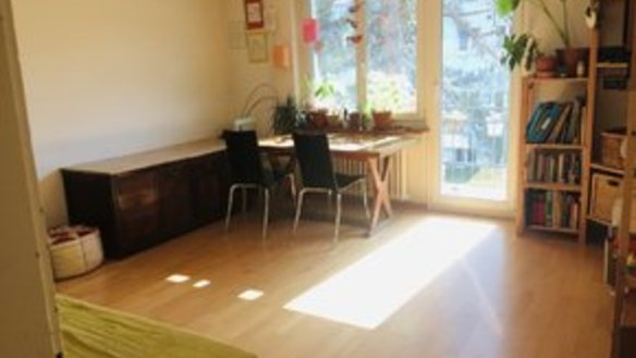Sunny 3-room apartment between park and forest