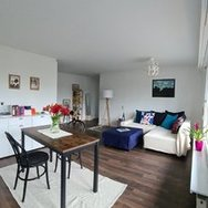 Bright, modern, partly furnished 2.5 bedroom apartment in Wiedikon / viewing 7 April 18h30